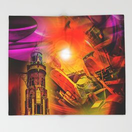 Lighthouse romance Throw Blanket