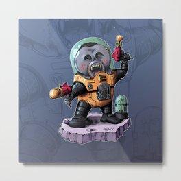 Space Orangutan Metal Print