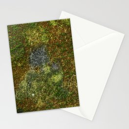 Old stone wall with moss Stationery Cards