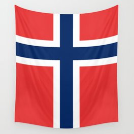 Norwegian Flag Wall Tapestry