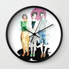 Sometimes We Leave The Bubble Wall Clock