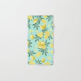 Lemon Twist Vibes #4 #tropical #fruit #decor #art #society6 Hand & Bath Towel
