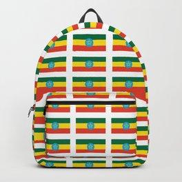 flag of Ethiopia 2-ኢትዮጵያ, የኢትዮጵያ ,Amharic,  Ethiopian, Addis Ababa. Backpack