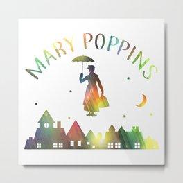 MARY POPPINS - RAINBOW Metal Print