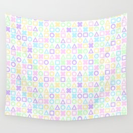 A weird game of pastel tic tac toe 2 Wall Tapestry