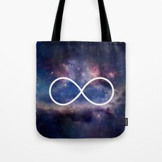 Infinity Symbol Stars Galaxy Space Tote Bag