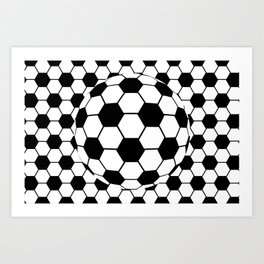 Black and White 3D Ball pattern deign Art Print