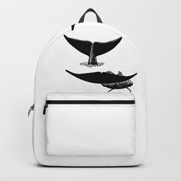 Whale flukes Backpack