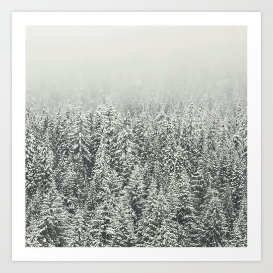 Snow Forest Art Print