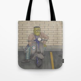 Frankenstein Scooter Tote Bag