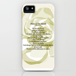 Palm of His Hands iPhone Case