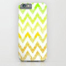 ombre golden green chevron iPhone 6 Slim Case