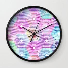 purple OVERDOSE Wall Clock