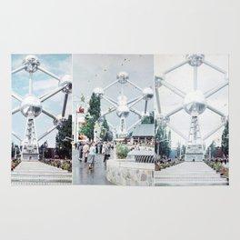 Brussels Atomium Photo Collage Rug