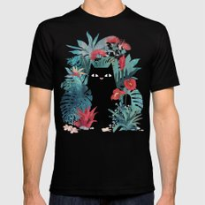 Popoki Black MEDIUM Mens Fitted Tee