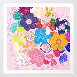 Shabby Chic Romantic Floral Art Print