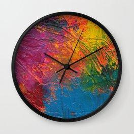 Paint Mess Wall Clock