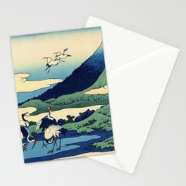 Hokusai -36 views of the Fuji  14 Umezawa in Sagami province Stationery Cards