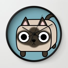 Cat Loaf - Siamese Kitty Wall Clock