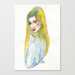 Blue Shirt Canvas Print