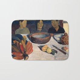 The Meal by Paul Gauguin Bath Mat