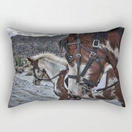 Horses, Anza Borrego, California Rectangular Pillow