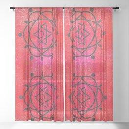 Funky Atoms Sheer Curtain