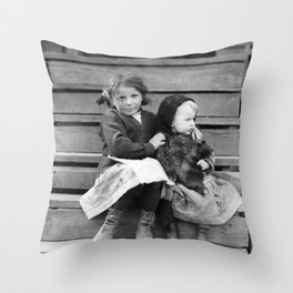 Young Babysitter - Alabama - By Lewis Hine 1911 Throw Pillow