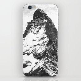 Black and White Mountain iPhone Skin