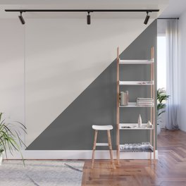 Minimalist blush pink grey color block geometric Wall Mural