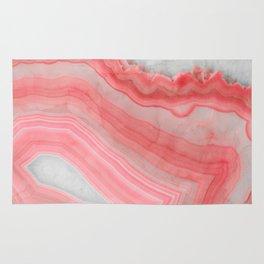 Coral Pink Agate  Rug