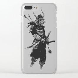 Samurai skull , grim reaper illustration , zombie warrior Clear iPhone Case