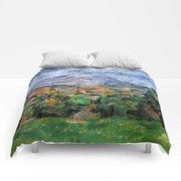 """Paul Cezanne """"Mont Sainte-Victoire"""", c.1890 Comforters"""