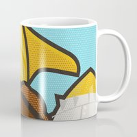 lichtenstein Mugs featuring Go get 'em, kid by Danny Haas