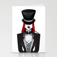 gotham Stationery Cards featuring Gotham Masquerade by Cristina Stefan