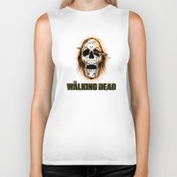 walking dead Biker Tanks featuring Walking Dead by ezmaya