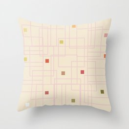 Urban Colorful Spots Throw Pillow