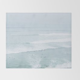 Tiny Surfers from the Sky, Lima, Peru Throw Blanket