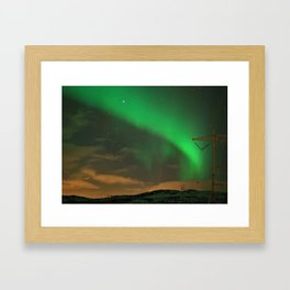 Northern Lights over Norway: Part 2 Framed Art Print