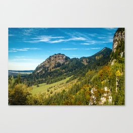 Hohenschwangau Mountains Canvas Print