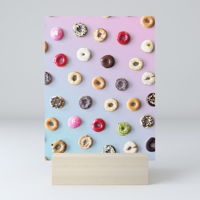 Colorful Donuts Mini Art Print