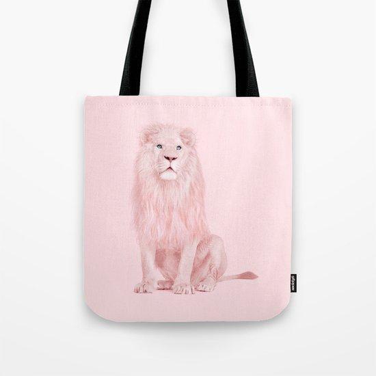ALBINO LION Tote Bag