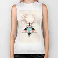 moose Biker Tanks featuring Moose by Linneajak