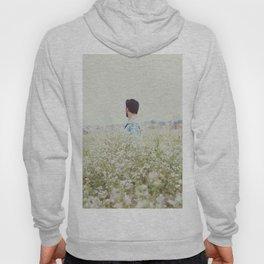 Man - Flowers - Field - Photography Hoody
