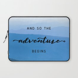 Smoky Mountains -  And So The Adventure Begins Laptop Sleeve