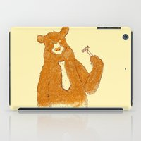 the office iPad Cases featuring Office Bear by Tobe Fonseca