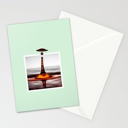 Droplet explosion with 3D pop out of frame effect Stationery Cards