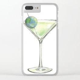 Big Martini in the sky Clear iPhone Case
