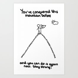 Conquering the Mountain of Mental Illness Art Print