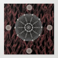 celtic Canvas Prints featuring Celtic Pattern by Pepita Selles